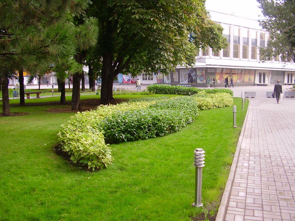 Ландшафтный дизайн торгового центра