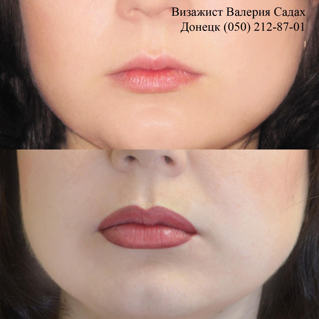 Перманентный макияж губ 3 д эффект фото