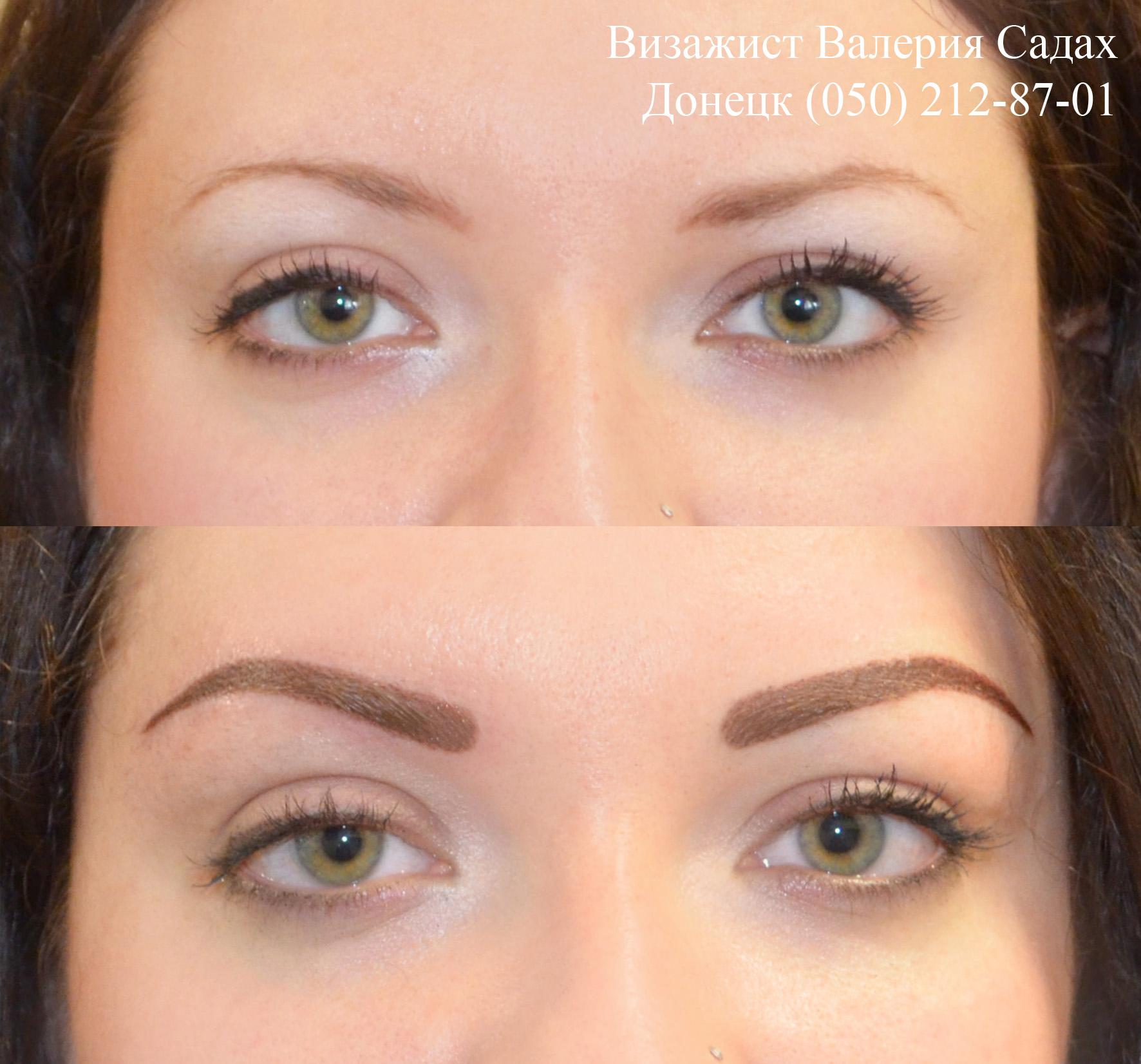 Перманентный макияж бровей волосковый метод как делают