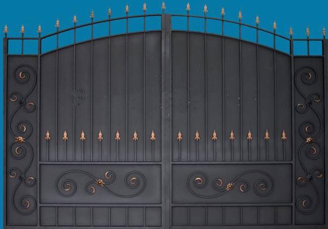 ворота металлические гаражные, ворота распашные металлические, кованые ворота донецк
