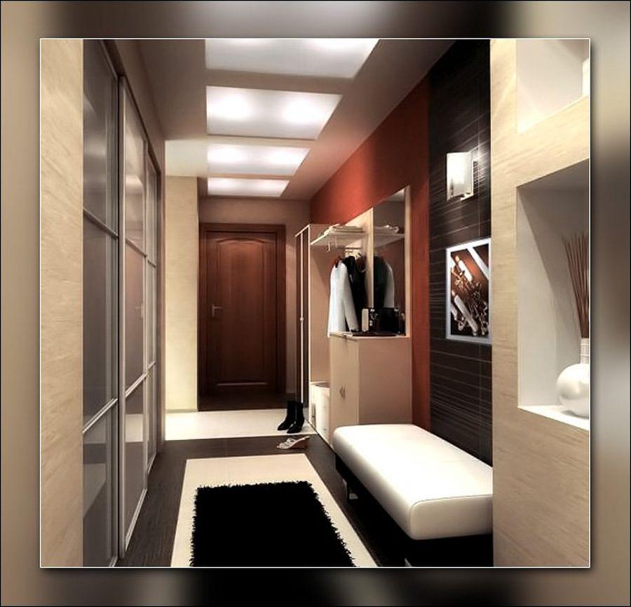 Дизайн большой прихожей в квартире в