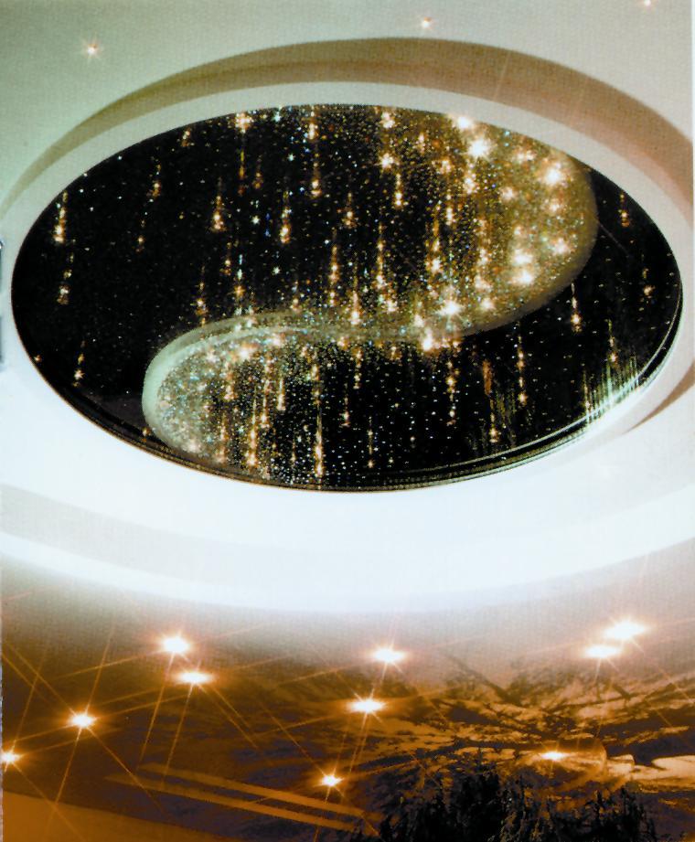 Фото декоративных потолков из