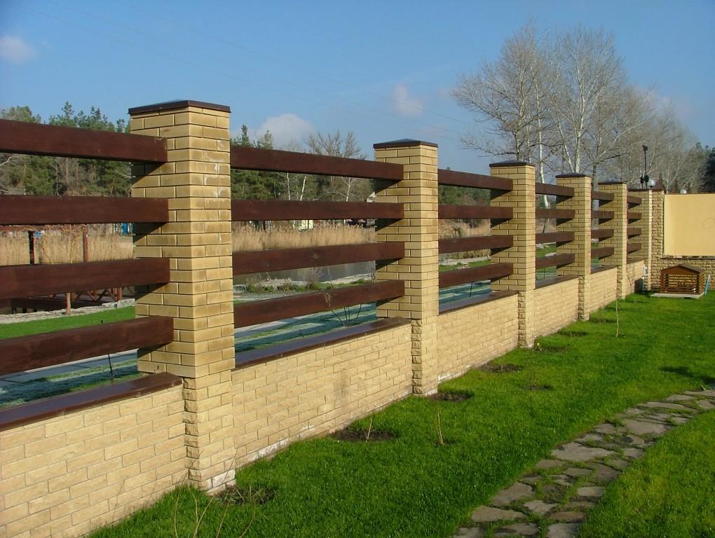 Как сделать забор для дачи своими руками из профнастила, дерева, кирпича