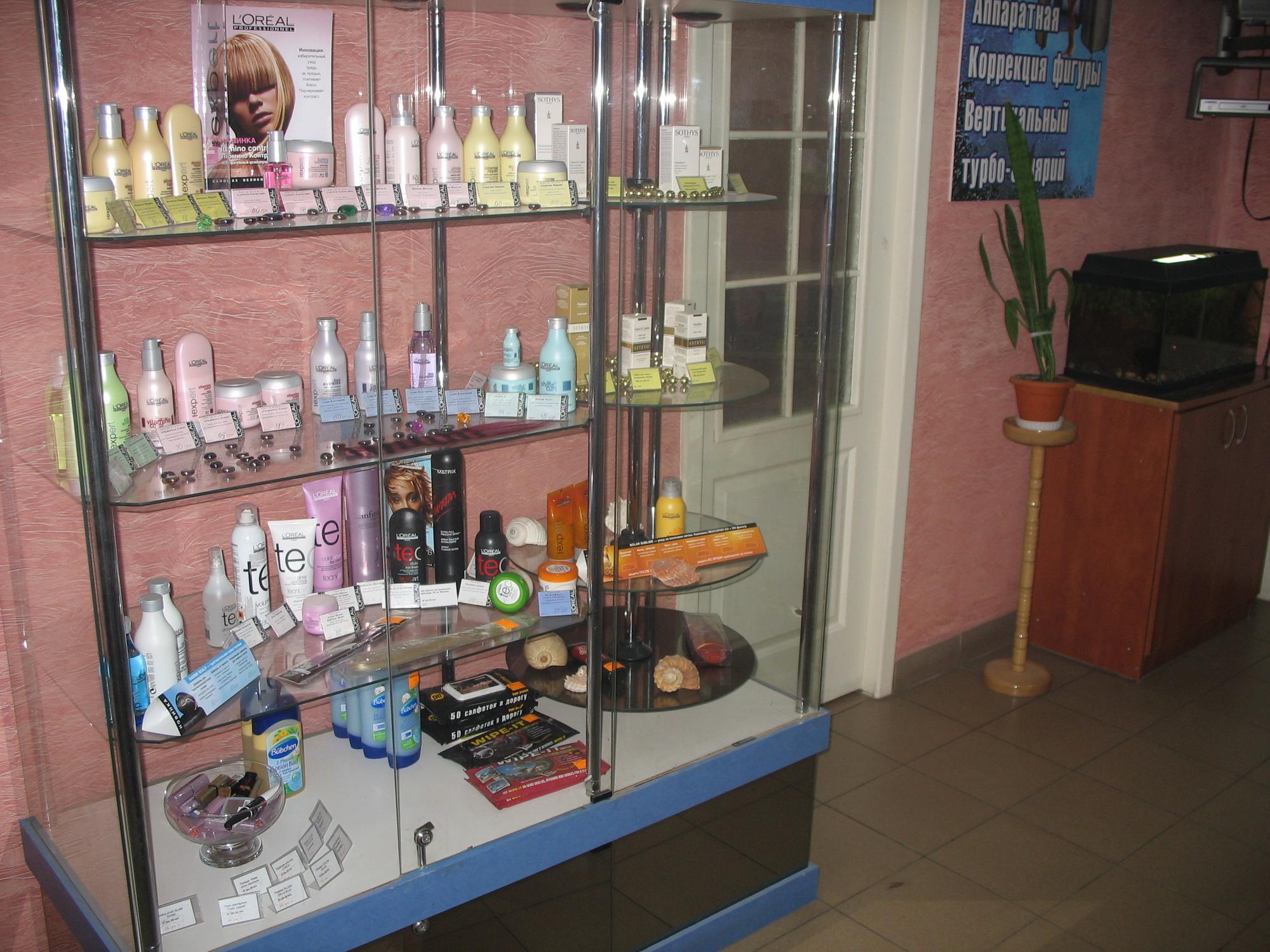 Продажа косметики в парикмахерских